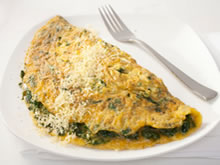 omelet spinazie